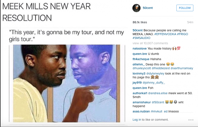 Fifty instagram Meek Mill 5