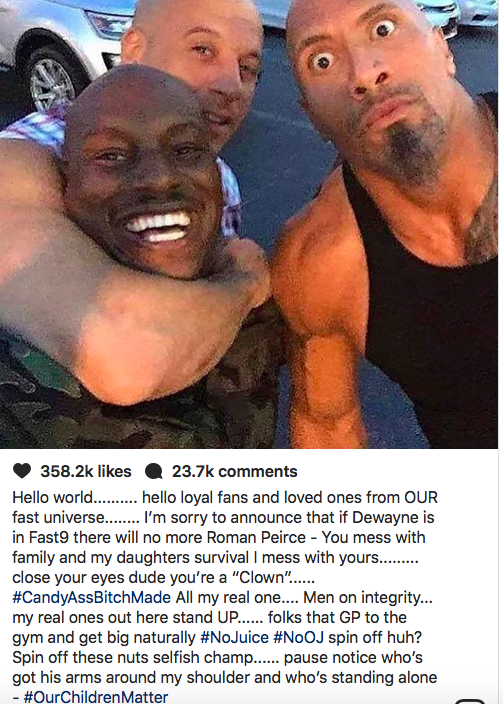 Tyrese instagram rants